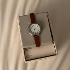 New Day Watch with Brown Strap